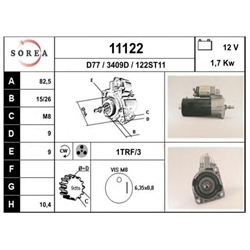 EAI 11122 Motor de arranque - 11122#EAI