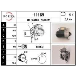 EAI 11169 Motor de arranque - 11169#EAI