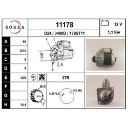 EAI 11178 Motor de arranque - 11178#EAI