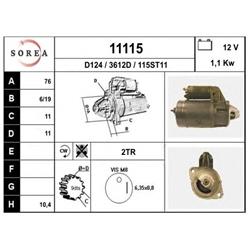 EAI 11115 Motor de arranque - 11115#EAI