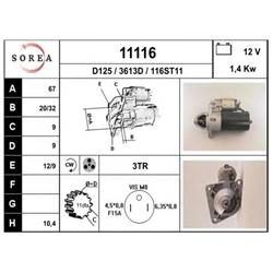 EAI 11116 Motor de arranque - 11116#EAI