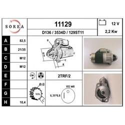 EAI 11129 Motor de arranque - 11129#EAI