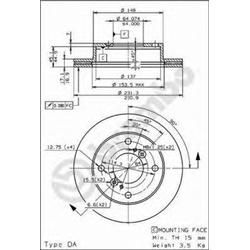 AP 24562 Disco de travão - 24562#AP