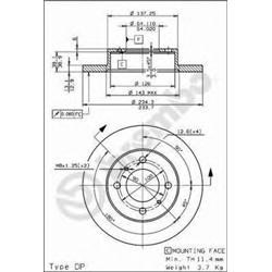 AP 14686 Disco de travão - 14686#AP