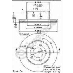 AP 22012 Disco de travão - 22012#AP