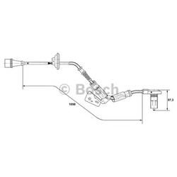 BOSCH 0 265 001 278 Sensor, rotações da roda - 0265001278#BOS