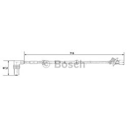 BOSCH 0 265 001 339 Sensor, rotações da roda - 0265001339#BOS