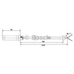 BOSCH 0 265 004 009 Sensor, rotações da roda - 0265004009#BOS