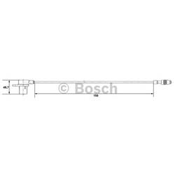 BOSCH 0 265 006 107 Sensor, rotações da roda - 0265006107#BOS