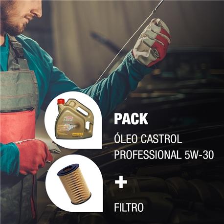 Pack Manutenção Castrol Professional 5W30 + Filtro - PACK_VAG_CASP