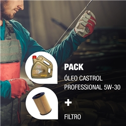 Pack Manutenção Castrol Professional 5W30 + Filtro
