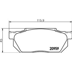 TEXTAR 2095901 Jogo de pastilhas para travão de disco