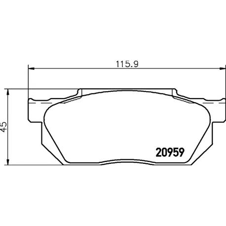 TEXTAR 2095901 Jogo de pastilhas para travão de disco - 2095901#TEX