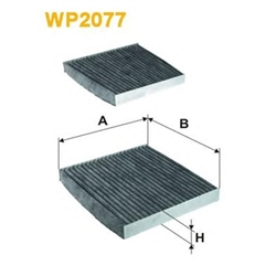WIX FILTERS WP2077 Filtro, ar do habitáculo - WP2077#WIX