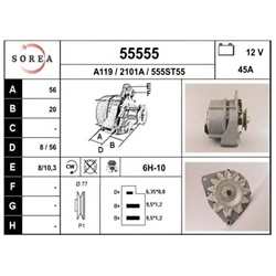 EAI 55555 Alternador - 55555#EAI