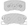 FERODO FDB1501 Jogo de pastilhas para travão de disco - FDB1501#FER