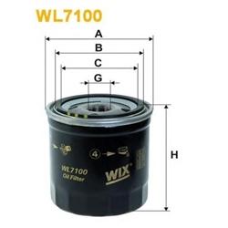 WIX FILTERS WL7100 Filtro de óleo